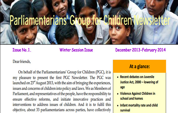 PGC Newsletter, Issue 1, Winter Session, 2014