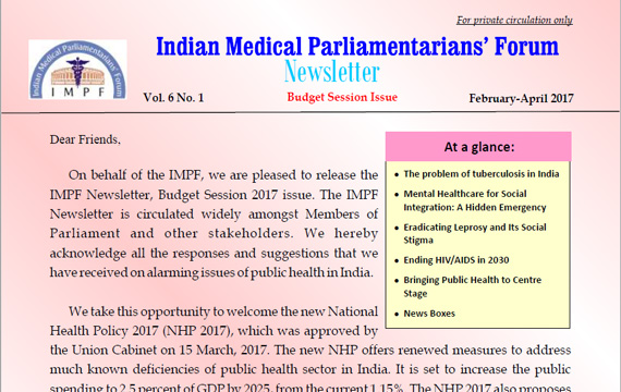IMPF Newsletter Budget Session 2017 Issue
